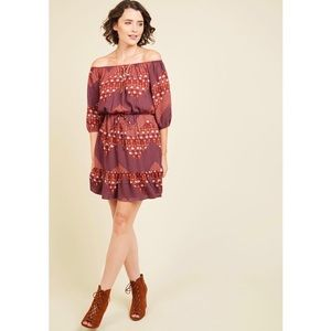Everly Boho Off-the-Shoulder Dress!